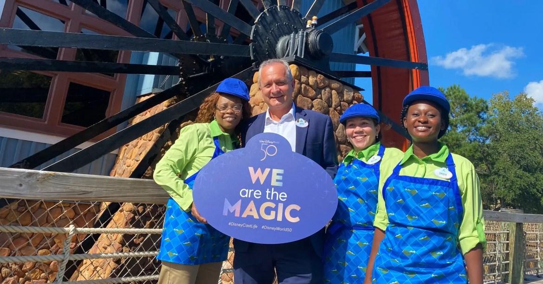 Disney Cast Members Celebrate the reopening of Port Orleans Riverside Resort