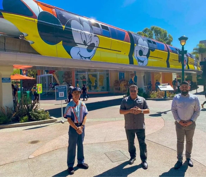 Disneyland Monorail Cast Members return to work