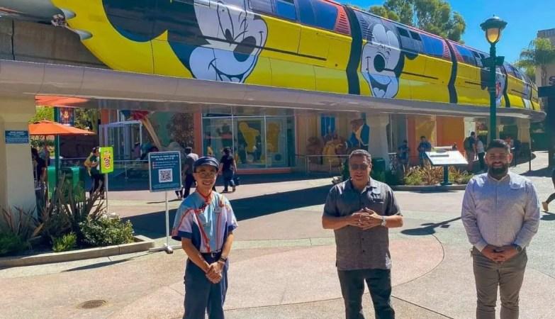 Disneyland Monorail Cast Members return to work 4