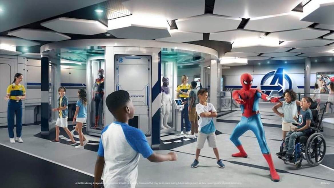 Look inside the Kid Spaces on the Disney Wish