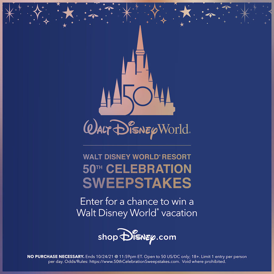 Win a trip to Walt Disney World for the 50th Anniversary Celebration
