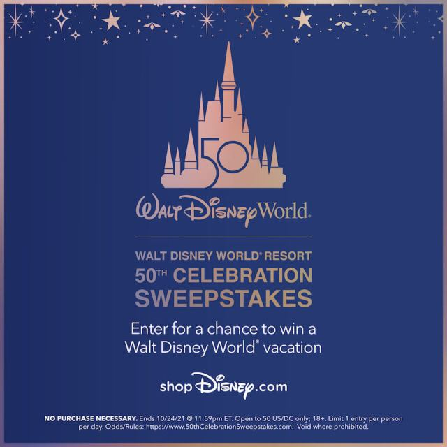 Win a trip to Walt Disney World for the 50th Anniversary Celebration 1