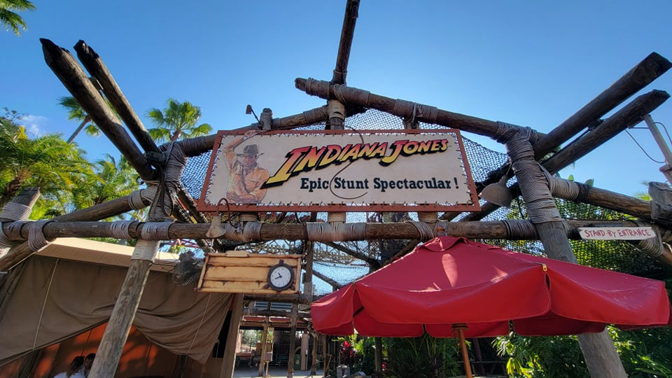 Entertainers can be seen getting ready for the reopening of Indiana Jones Epic Stunt Spectacular