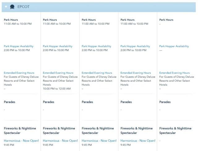 Disney World Theme Park Hours Available Through December 15 3