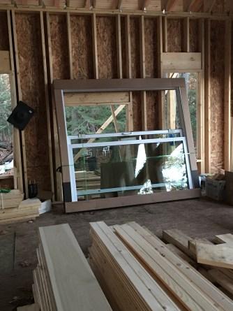One of the patio slider doors
