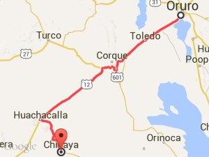 Ruta Oruro-Chipaya.