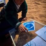 Taller de cianotipia en la unidad educativa Puente Topater