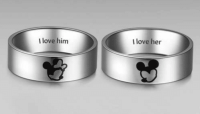 Wedding rings incredible beauty: Minnie and mickey mouse ...