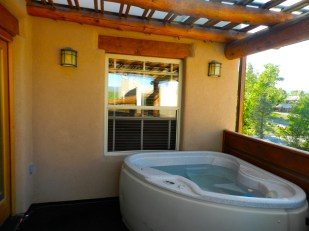 204 Two Bedroom A Jacuzzi on the balcony area outside the room