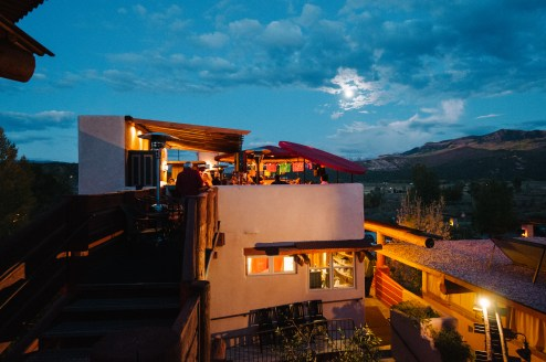Cafe and sky bar for wedding celebrations in Colorado