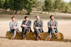 Four Men in a Wedding Pose