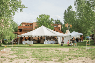 Venue Tent in Destination wedding in Colorado Resort