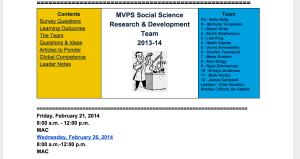 A Brief History of Social Science R & D at MVPS