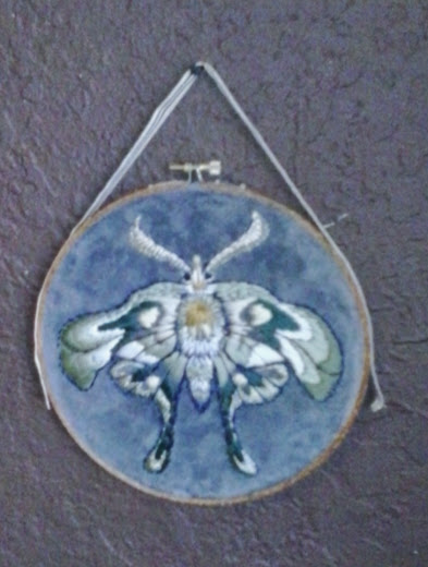 Embroidery by Suzanne Forbes- moth