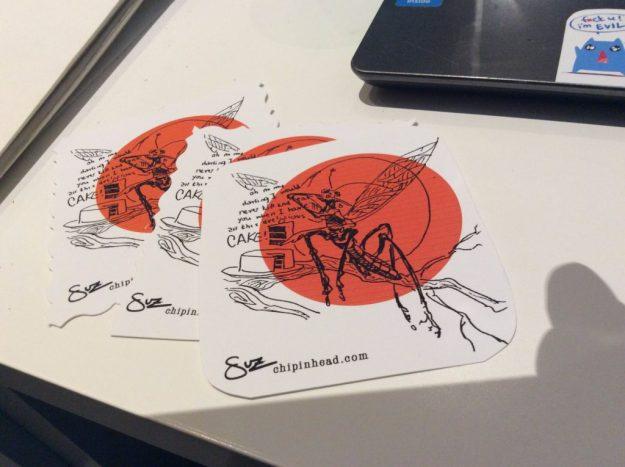 Suzanne Forbes mantis sticker 2016