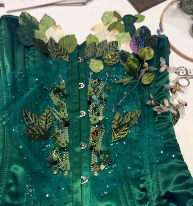 beaded corset WIP Suzanne Forbes 2016