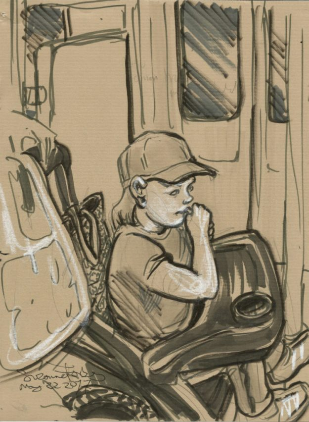 trucker child unterweg by Suzanne Forbes May 23 2017
