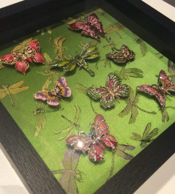 jewelled insect shadowbox by Suzanne Forbes June 2017
