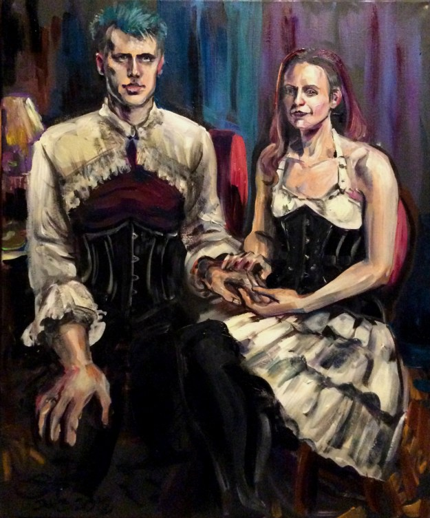 A and C wedding portrait painted by Suzanne Forbes Jan 3 2018