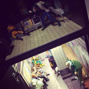 WIP action figure dollhouse by Suzanne Forbes March 2018