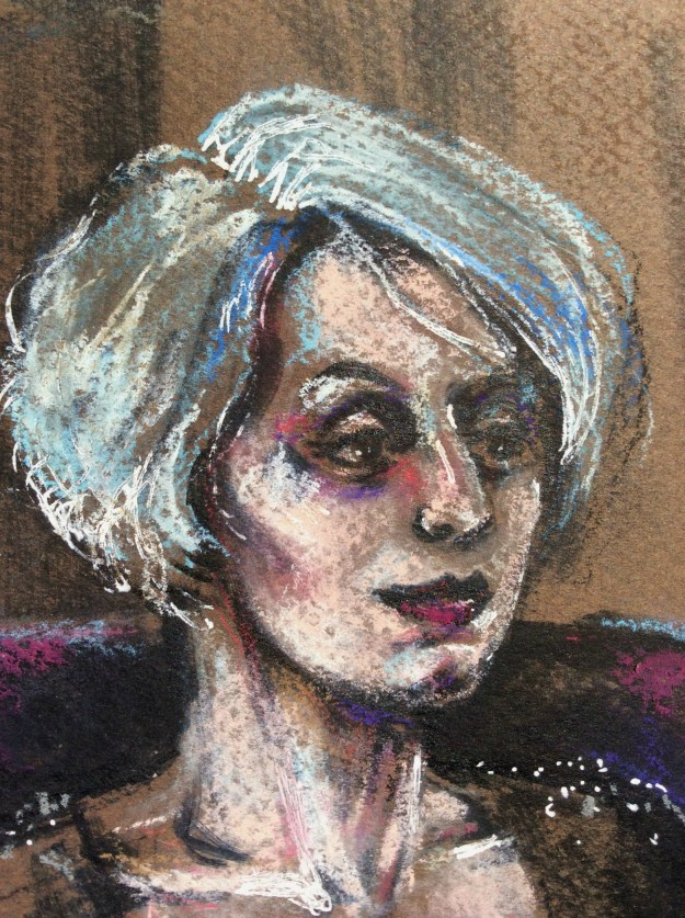 E Pastel Portrait by Suzanne Forbes May 6 2018 detail