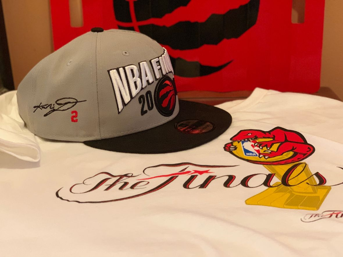 TORONTO RAPTORS NBA FINALS HAT KAWHI SIGNATURE