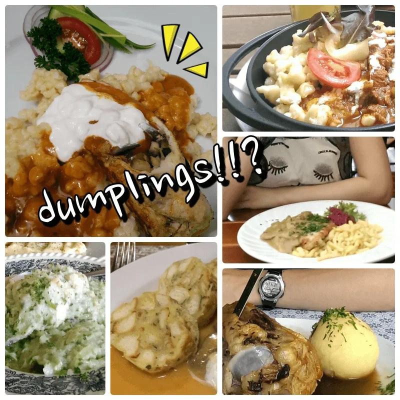 歐洲的奇特dumplings集錦