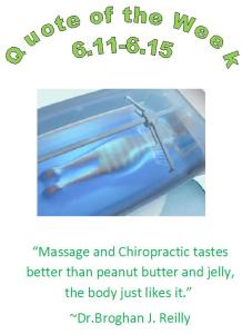 massage chippewa falls, wi chiropractor healthy quote of the week 6.11 - 6.15