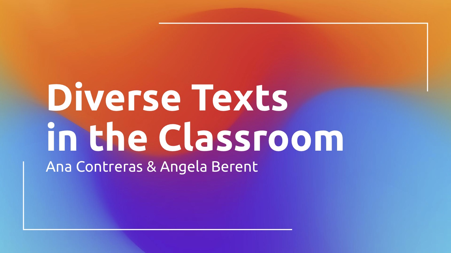 Diverse Texts in the Classroom Cover Slide