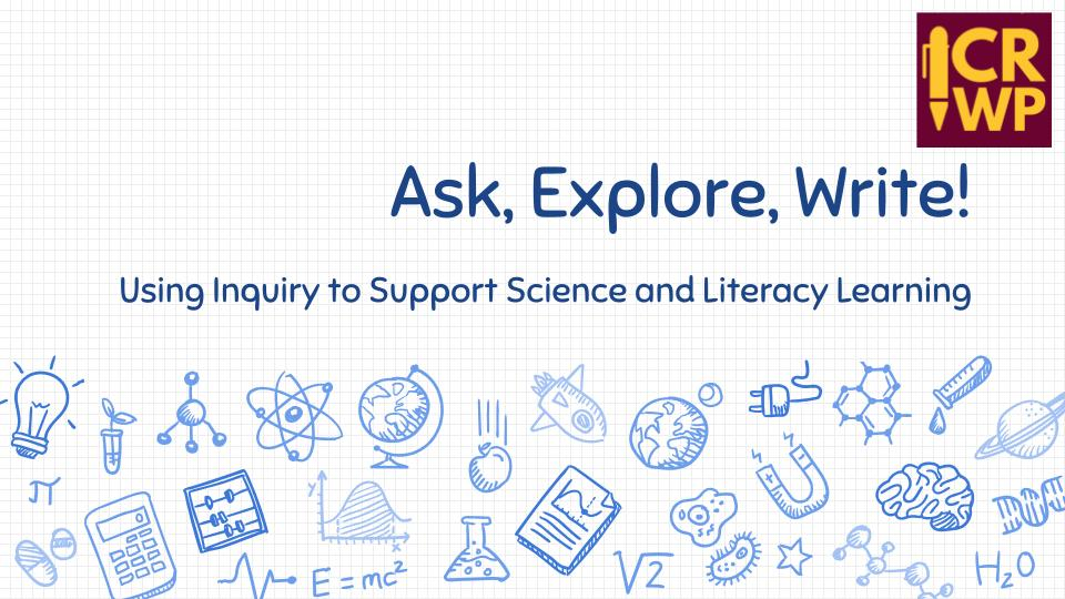 Ask Explore Write Cover Slide