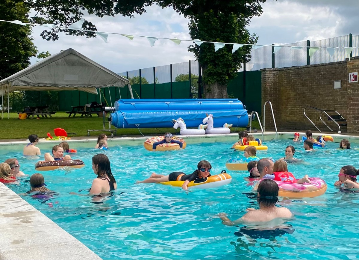 Family swim at The Lido