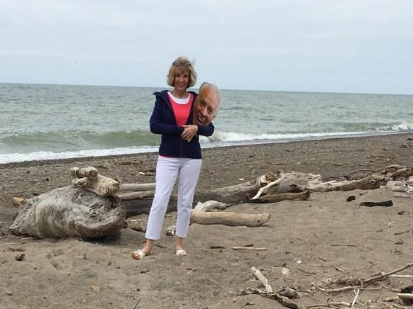 Midge & Chip on the beach2