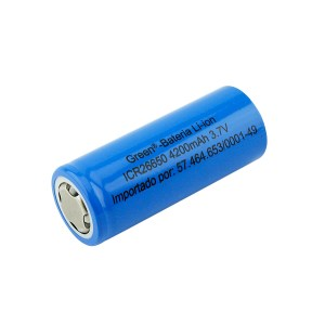 Bateria 3.7V 4200mah Industrial – GREEN- CR26650 (6,7X2,6)