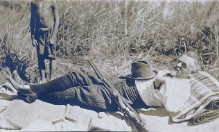 """Dan Crawford resting at noon -- 1916"""