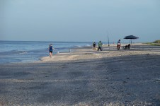 July 2013 - a Sanibel Island morning -- fishing and shelling