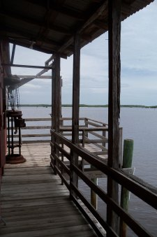 View out the back of the Smallwood Store--nothing but water and the Ten Thousand Islands for as far as the eye can see