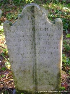 Eliza Brodhead stone, cleaned
