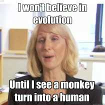 You can't watch evolution happening