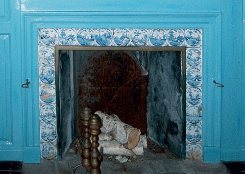 Tin Fireplace Surround Al Luckenbach | Painted Tiles From Tulip Hill, Anne