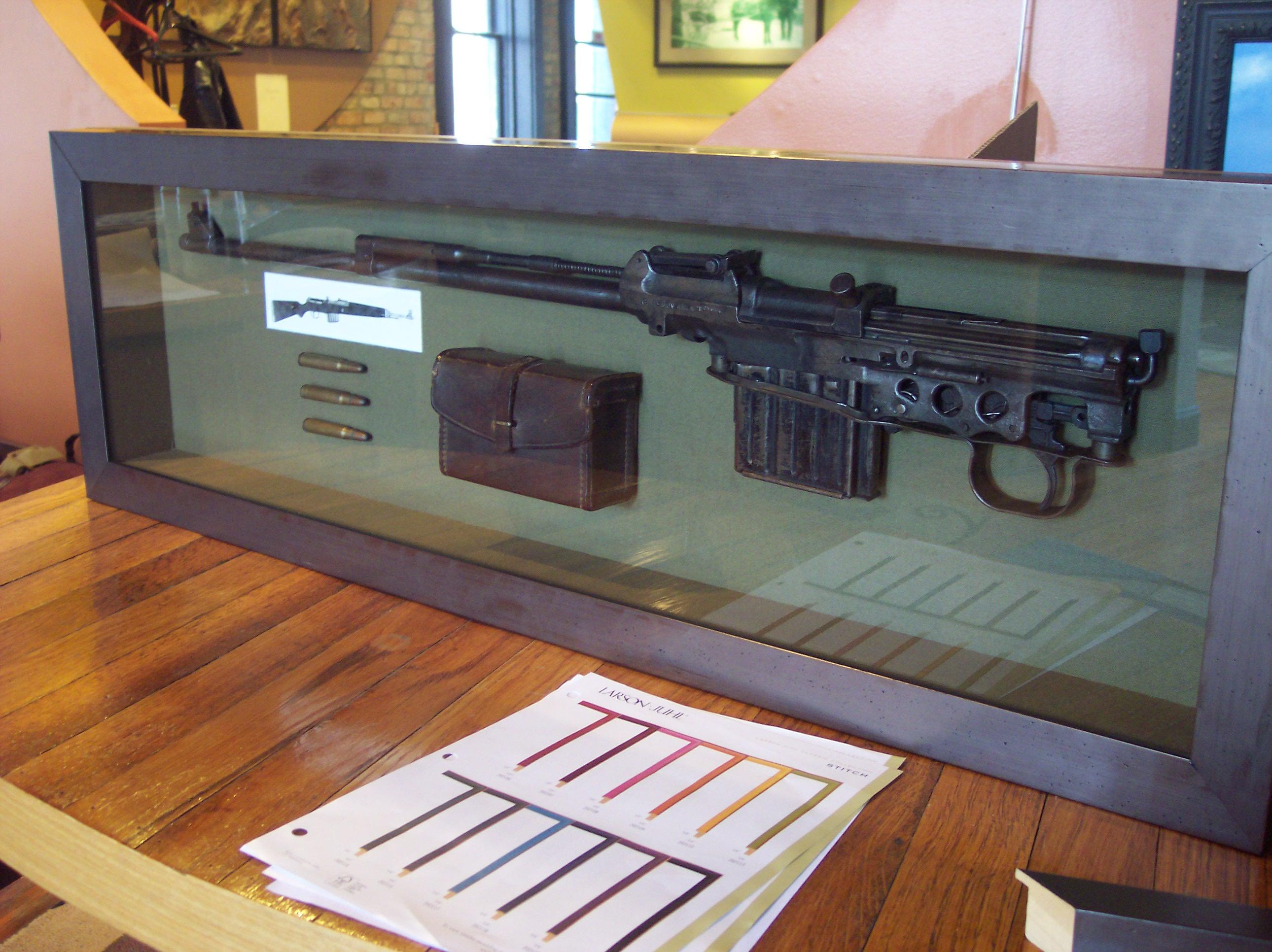 World War II Rifle Shadow Box  Picture Frame Design