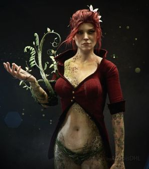 Poison Ivy from Batman Arkham Knight, DC Comics