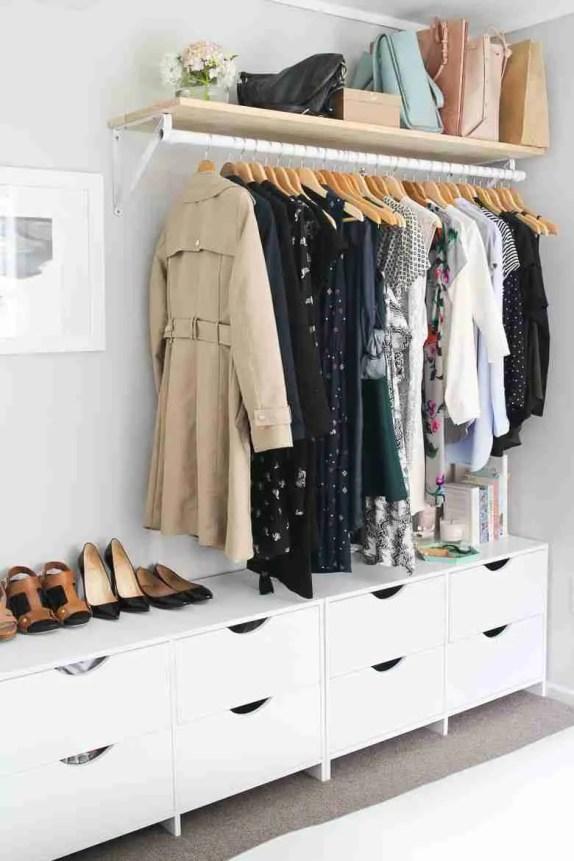 1462484256 no closet wardrobe shelf Storage Hacks for Small Bedrooms