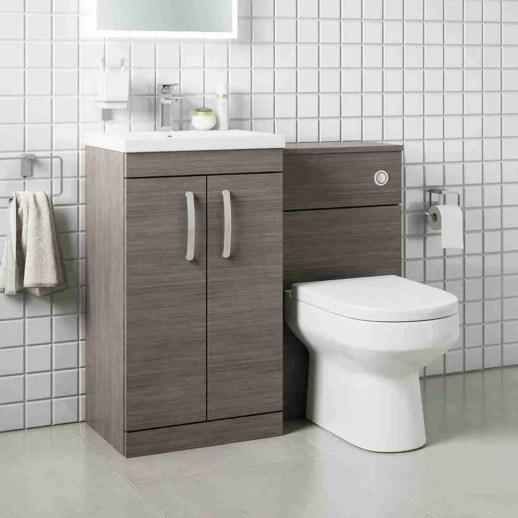 emily 500mm 2door combination vanity wc greyavola 1000mm Combination Vanity Unit