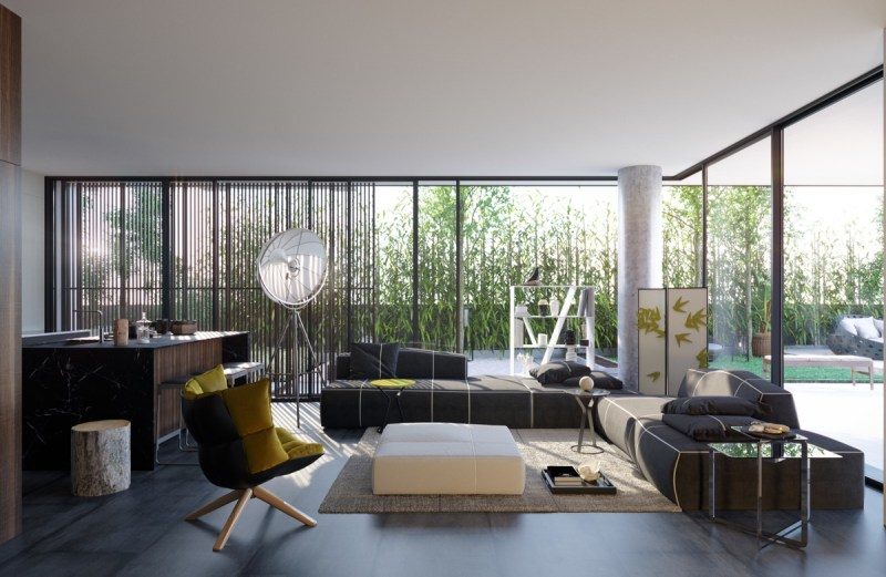 large windows smooth flooring open plan living room Interior Experts Advice For Decorating