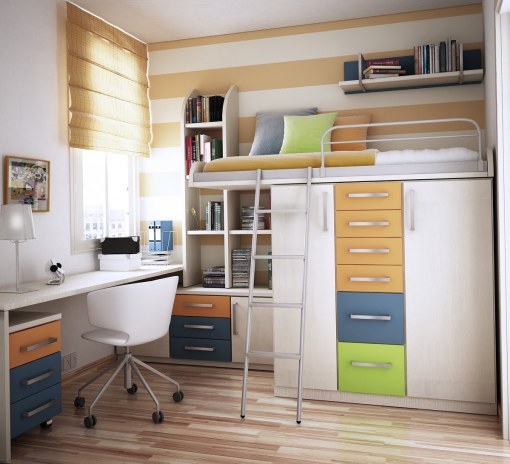 Simple Desk closed Chair on Wheel near Nice Window plus Blind plus Wooden Floor inside Tiny Bedroom Ideas How to Style your Bedroom