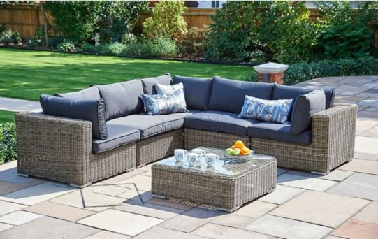 6 piece modular mayfair 2 All Weather Garden Furniture