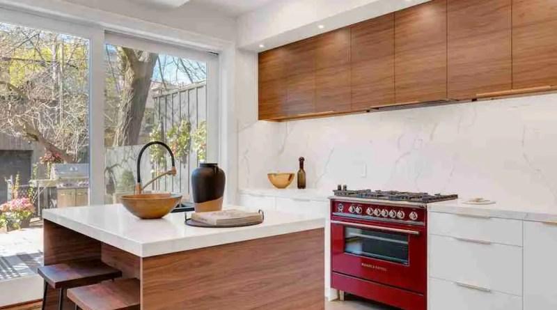 unsplash walnut cabinets andre francois mckenzie Walnut Kitchen Cabinets