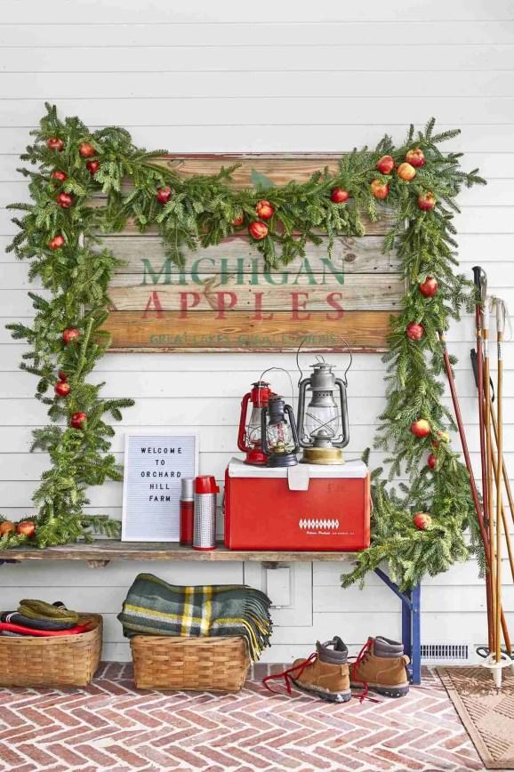 christmas decoration ideas apple garland 1568236329 Christmas Decorating Ideas