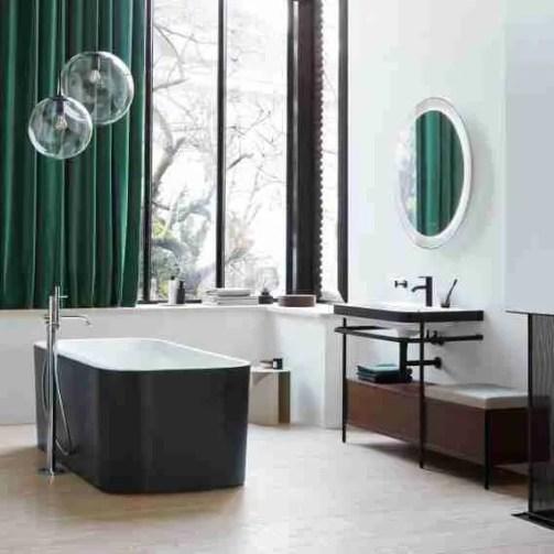duravit happy d2 plus freestanding oval bath l 180 w 80 h 60 cm matt graphite dur 7004538 4 make a small bathroom look bigger