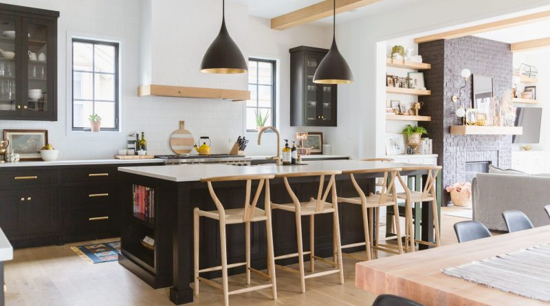 e03f4d64 3d70 4383 88bc 82c354f9c8ae black and white kitchen Rachel Loewen scaled kitchen remodel